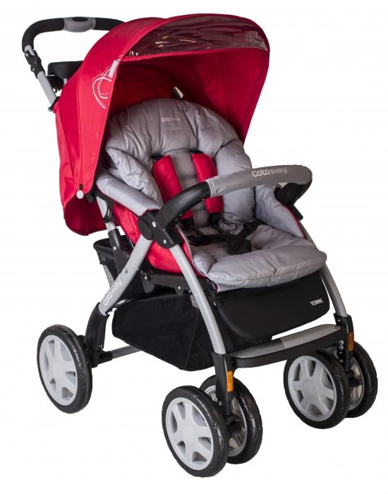 Športový kočík Torre Coto Baby - červená / šedá