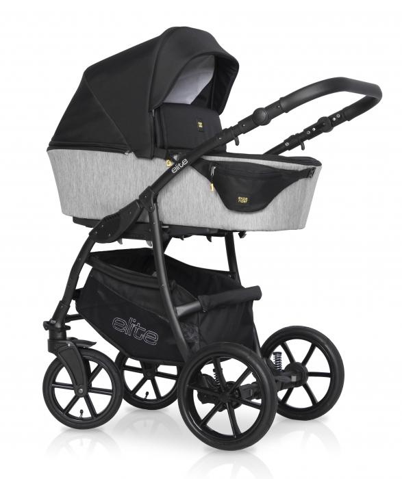 Kombinovaný detský kočík 2 v 1 Expander Elite - silver