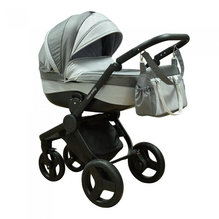 Coto Baby Kočík ETNA 2v1 - svetlo sivý