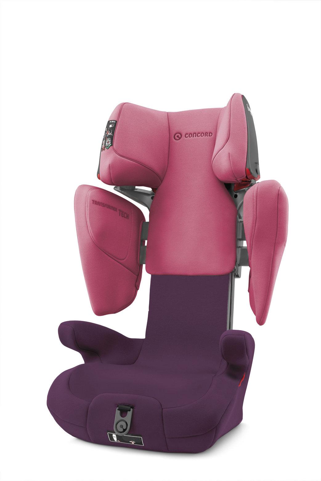 Autosedačka Transformer TECH Rose Pink 15-36kg Concord
