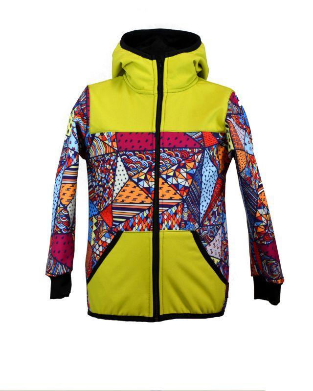 Softshellová bunda jablko/bl. trojuholníky zimná, veľ. 80-116