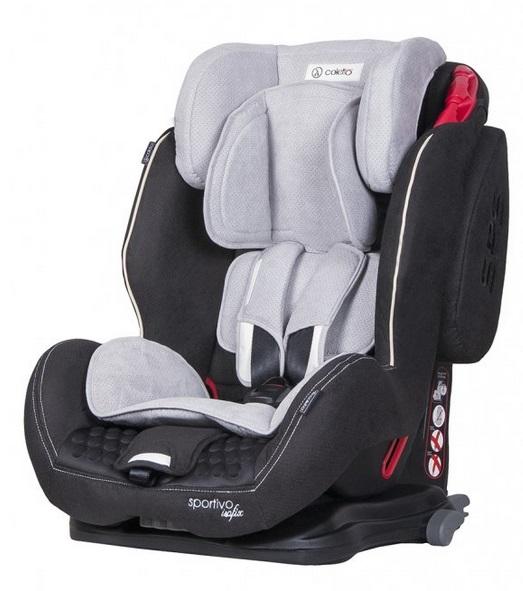 Detská autosedačka Coletto Sportivo IsoFix 9-36 kg - čierna