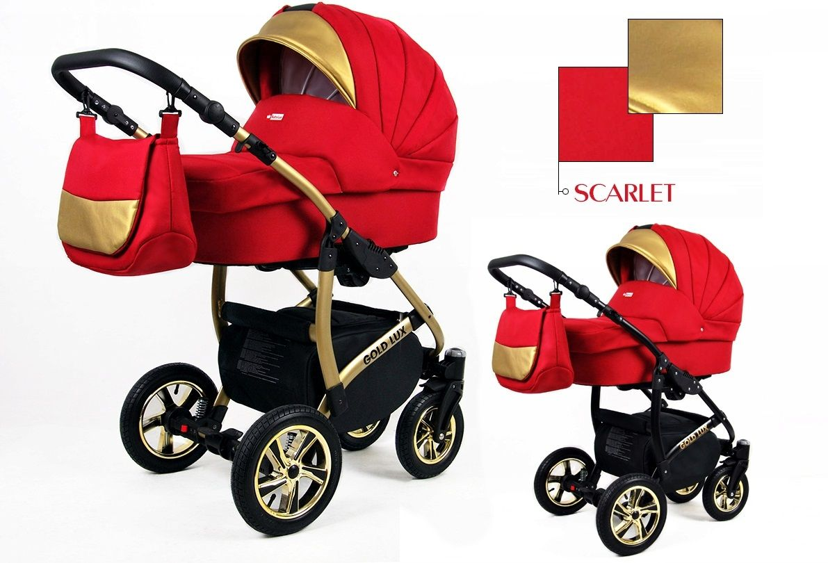 Kombinovaný kočík Raf-pol Gold lux - Scarlet (2-kombinácia)