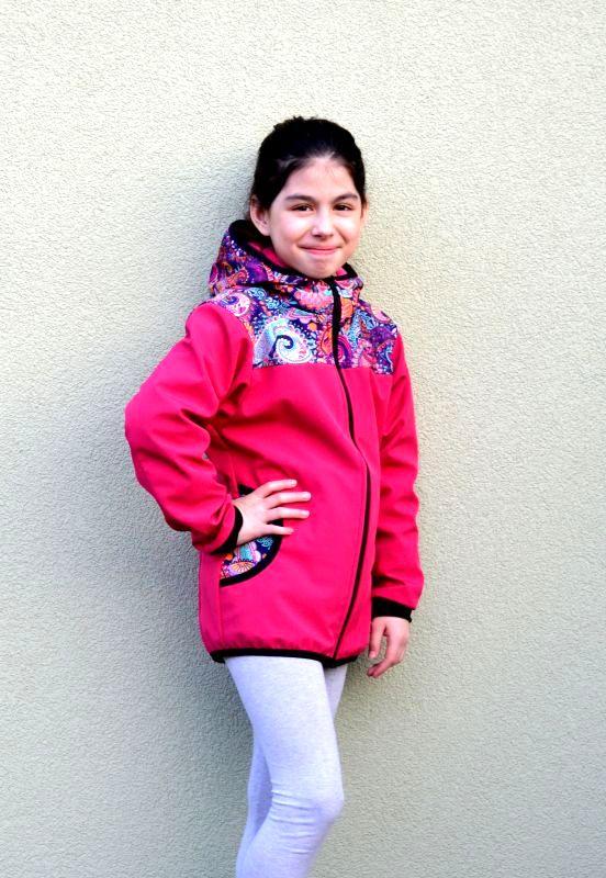 Softshellová bunda kombinovaná zimná, veľ. 140-152