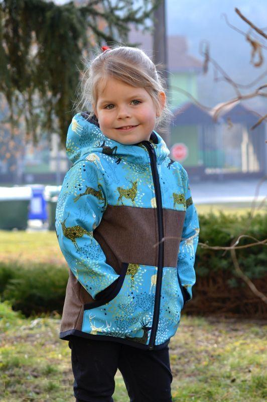 Softshellová bunda - zimná - hnedá/jelenia, veľ. 122-134
