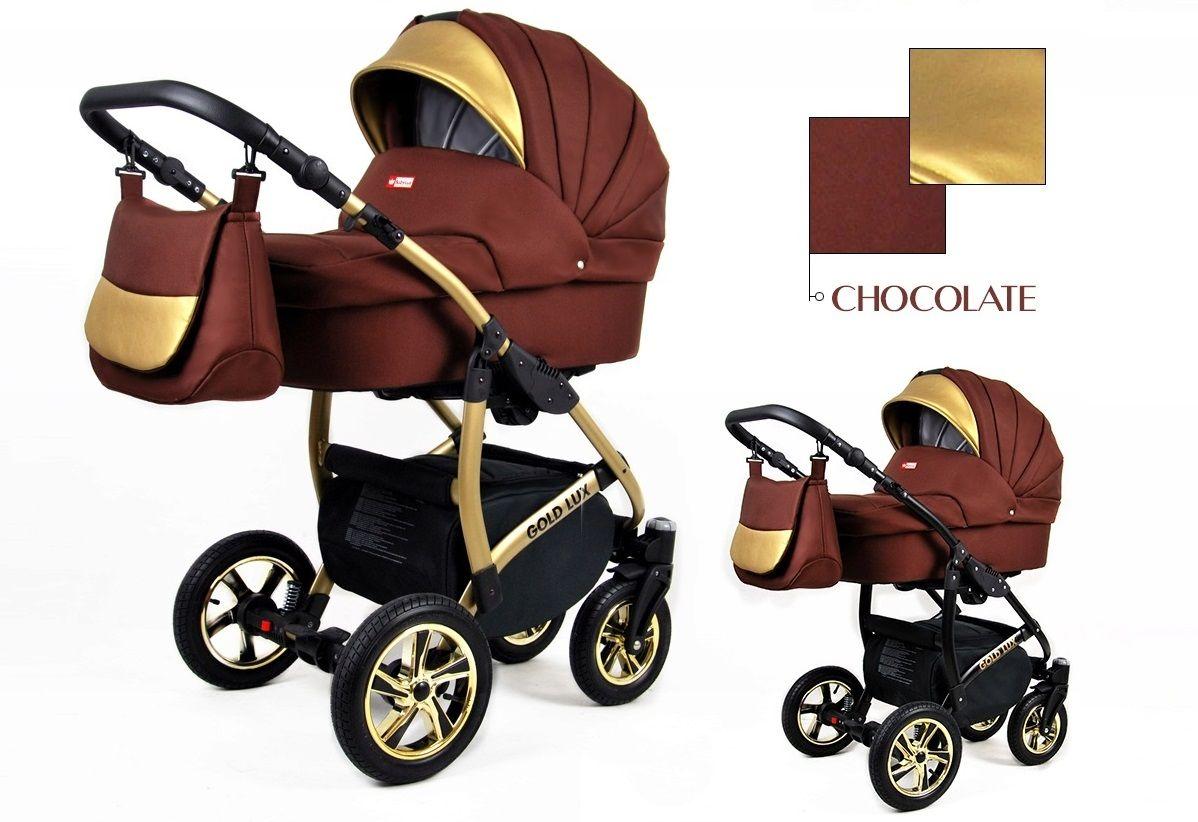 Kombinovaný kočík Raf-pol Gold lux - chocolate (3-kombinácia)
