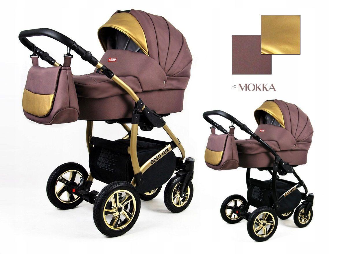 Kombinovaný kočík Raf-pol Gold lux - Mokka (3-kombinácia)