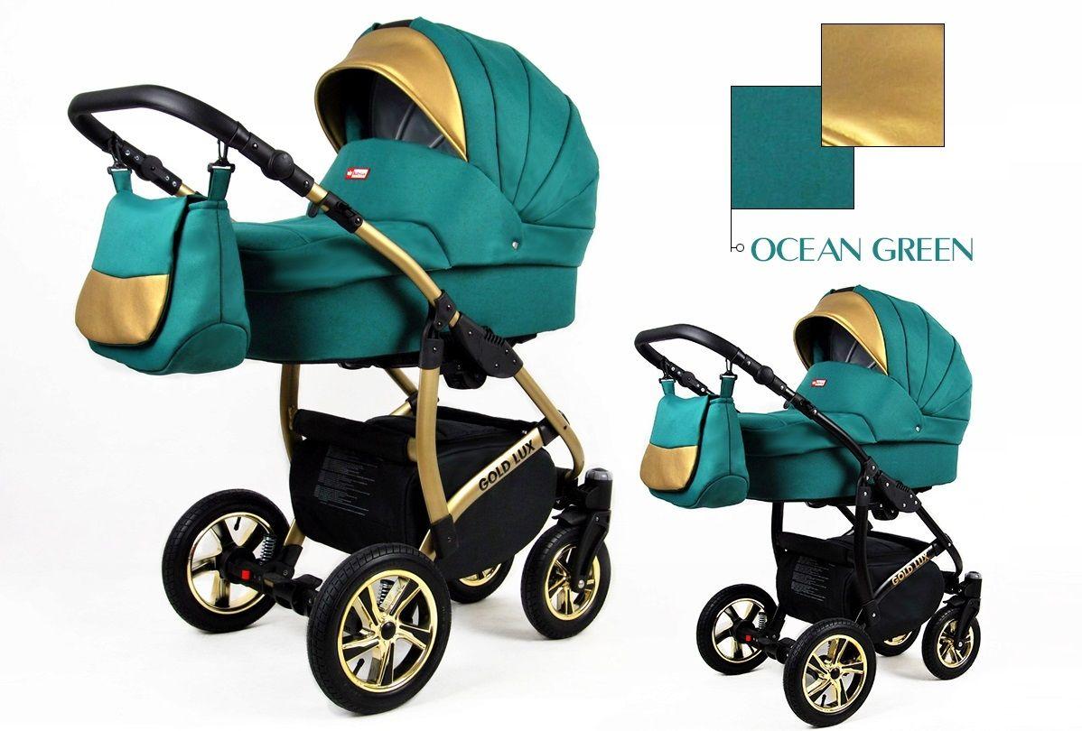 Kombinovaný kočík Raf-pol Gold lux - Ocean Green (3-kombinácia)