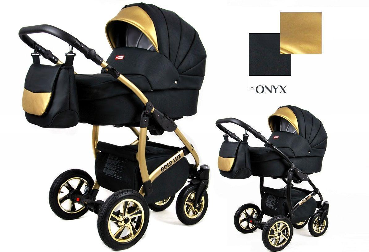 Kombinovaný kočík Raf-pol Gold lux - Onyx (3-kombinácia)