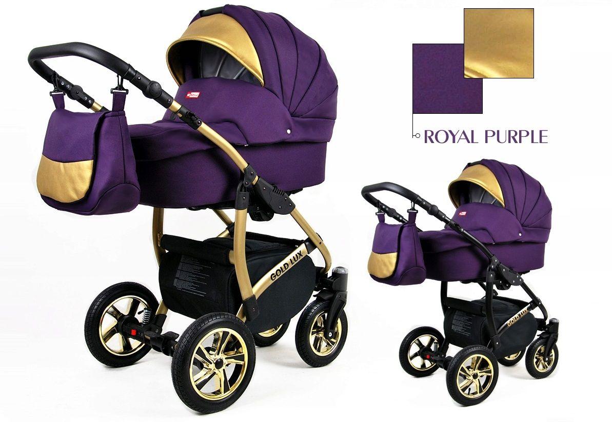 Kombinovaný kočík Raf-pol Gold lux - Royal Purple (3-kombinácia)