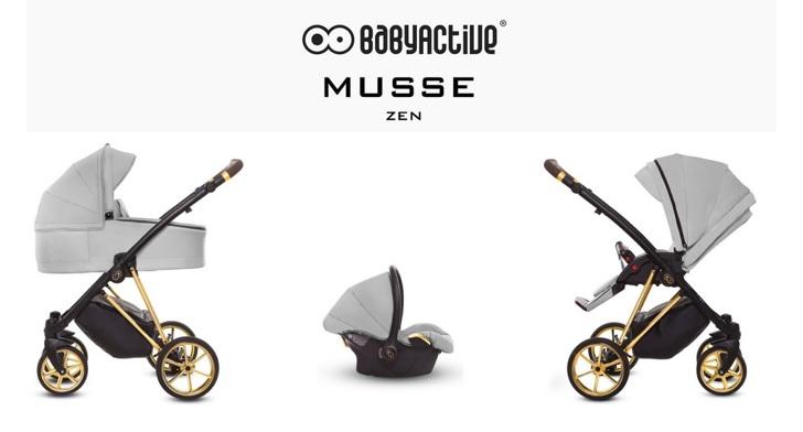 Detský kombinovaný kočík Baby Active Musse Ultra - ZEN (3-kombinácia)