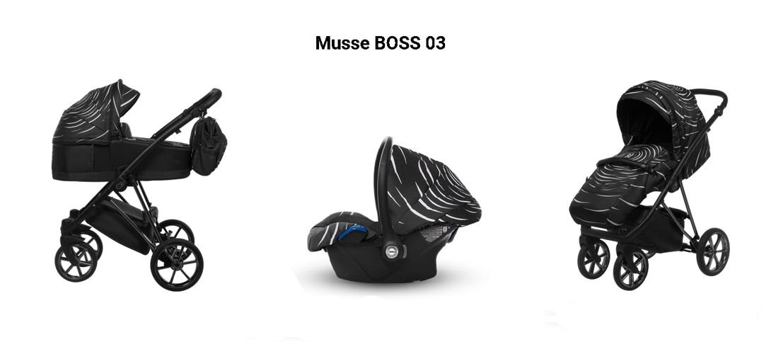 Detský kombinovaný kočík Baby Active Musse Boss - 03 (3-kombinácia)