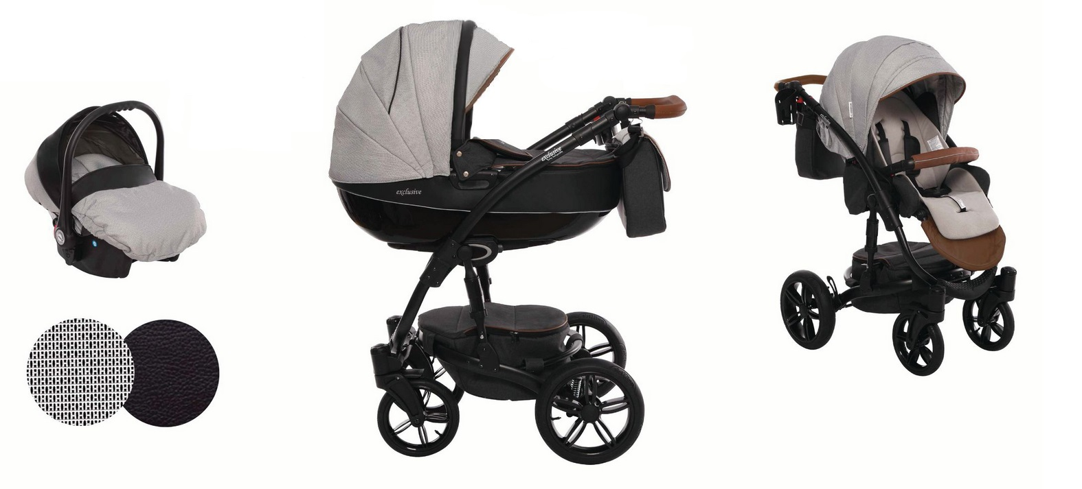 Detský kombinovaný kočík Baby Active Exclusive - E01 (3-kombinácia)