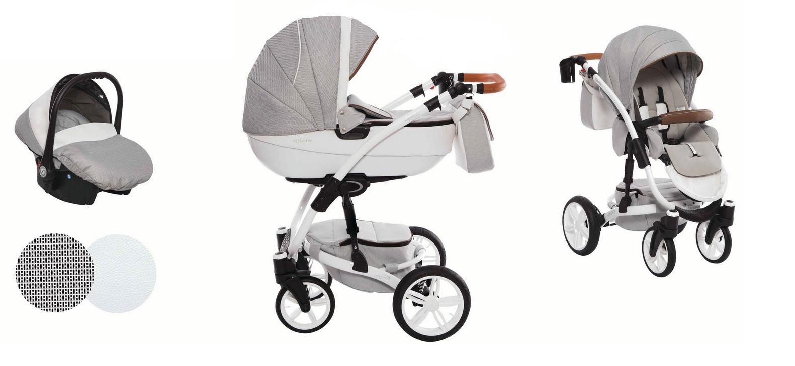 Detský kombinovaný kočík Baby Active Exclusive - E02 (3-kombinácia)