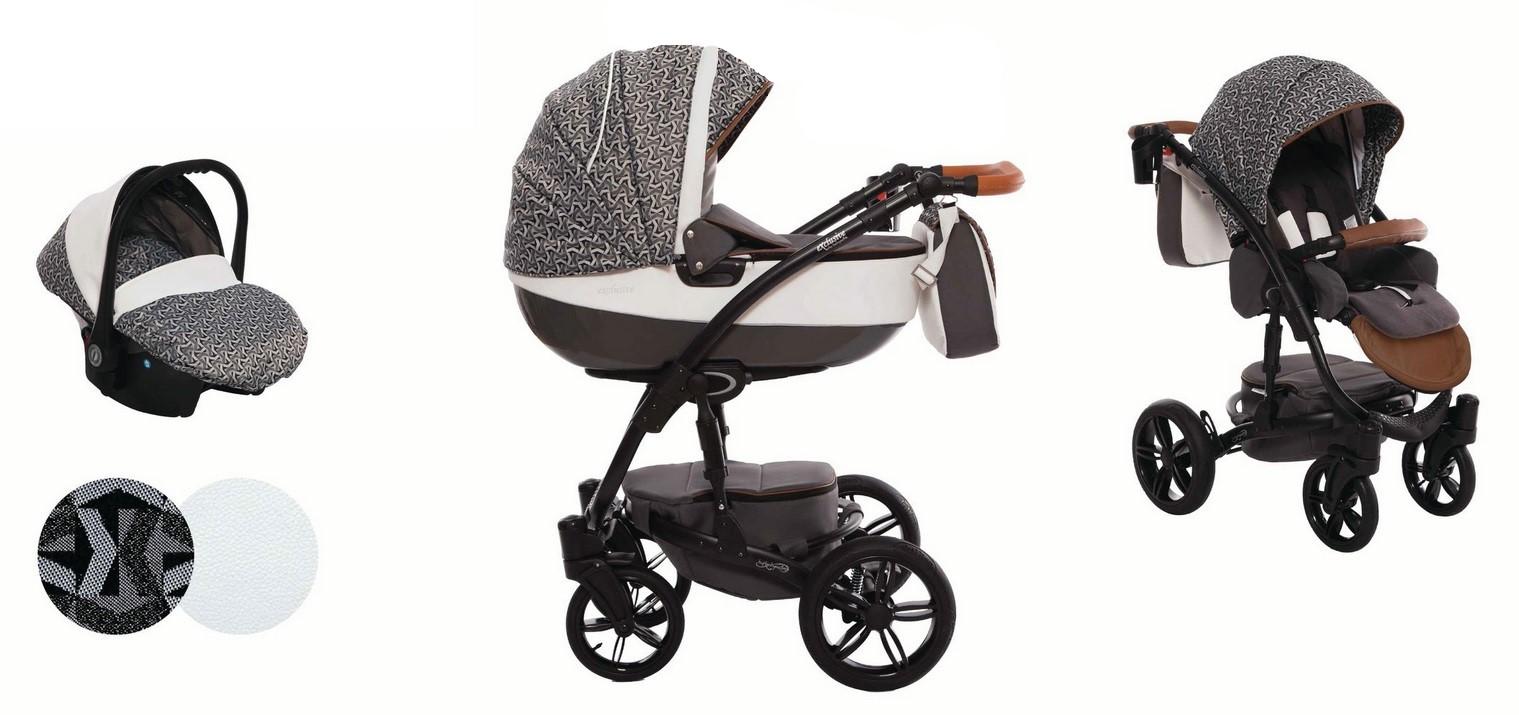Detský kombinovaný kočík Baby Active Exclusive - E03 (3-kombinácia)
