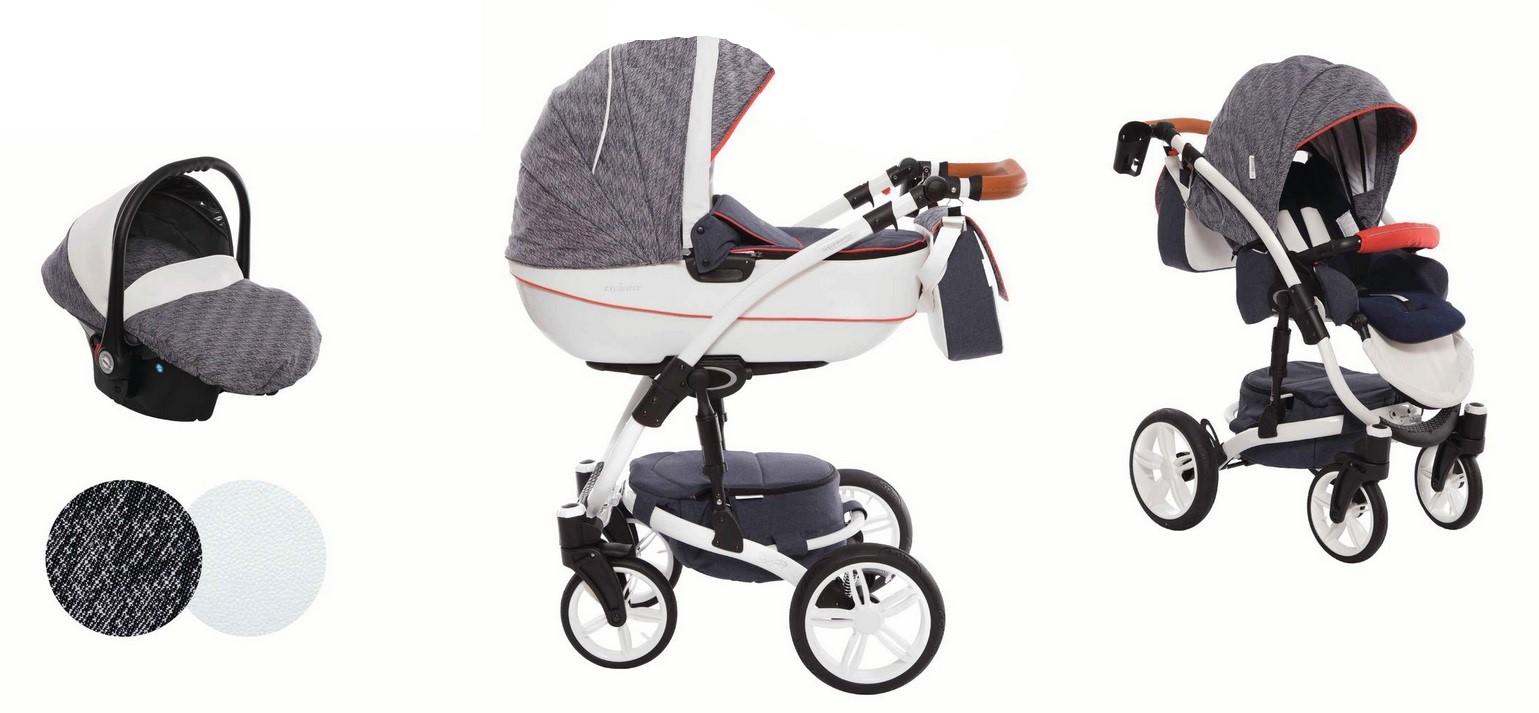 Detský kombinovaný kočík Baby Active Exclusive - E06 (3-kombinácia)
