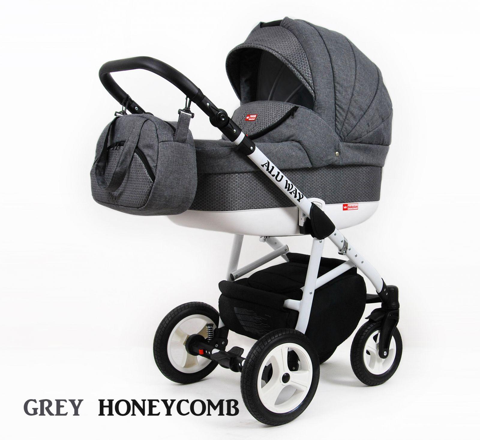 Kombinovaný kočík Raf-pol Alu way - Grey honeycomb (3-kombinácia)