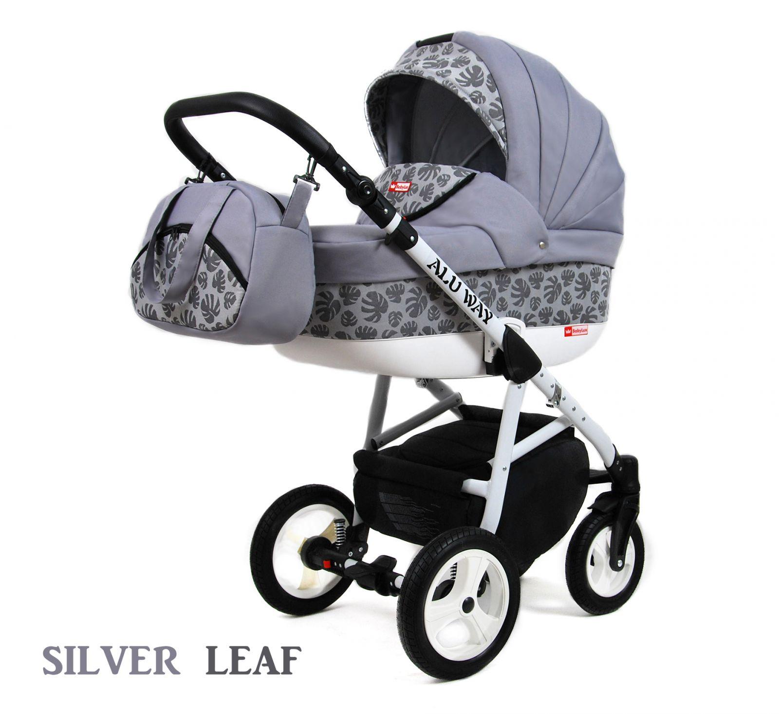 Kombinovaný kočík Raf-pol Alu way - Silver leaf (3-kombinácia)